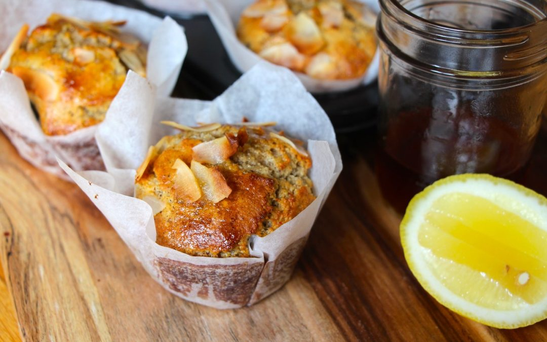 Lemon & Camomile Syrup Muffins